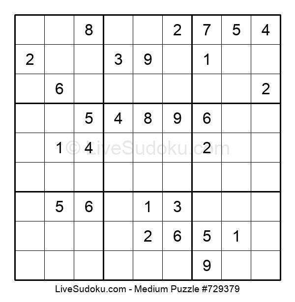 Medium Puzzle #729379