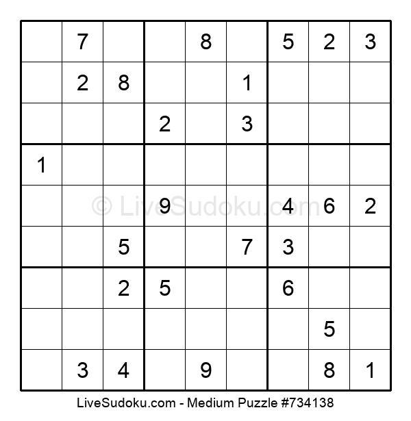 Medium Puzzle #734138