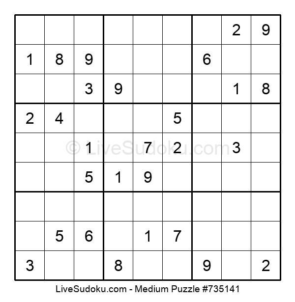 Medium Puzzle #735141