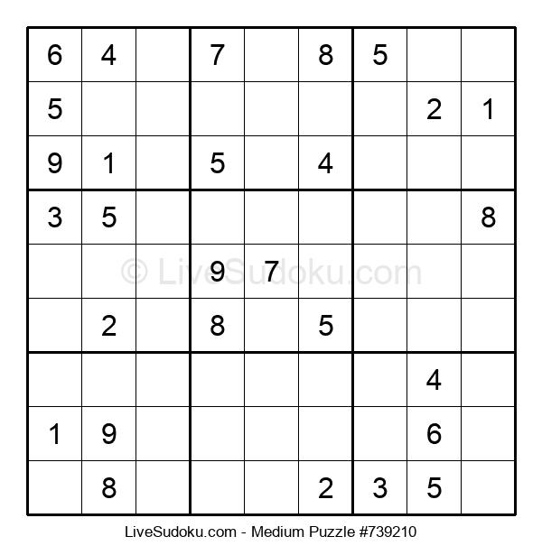 Medium Puzzle #739210