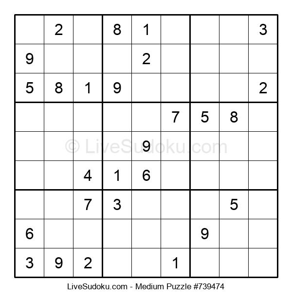 Medium Puzzle #739474