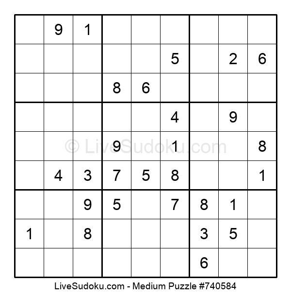 Medium Puzzle #740584