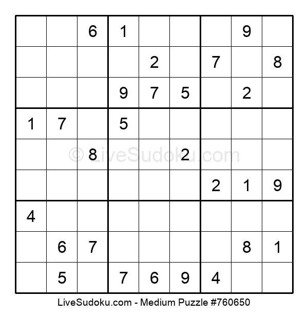 Medium Puzzle #760650