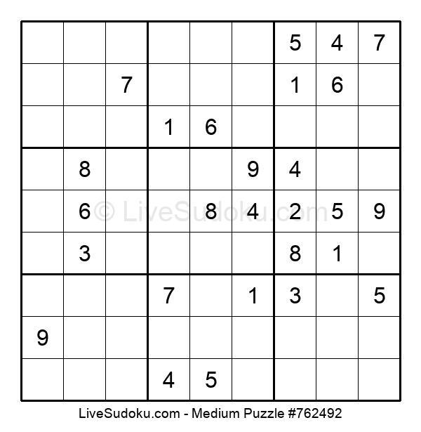 Medium Puzzle #762492