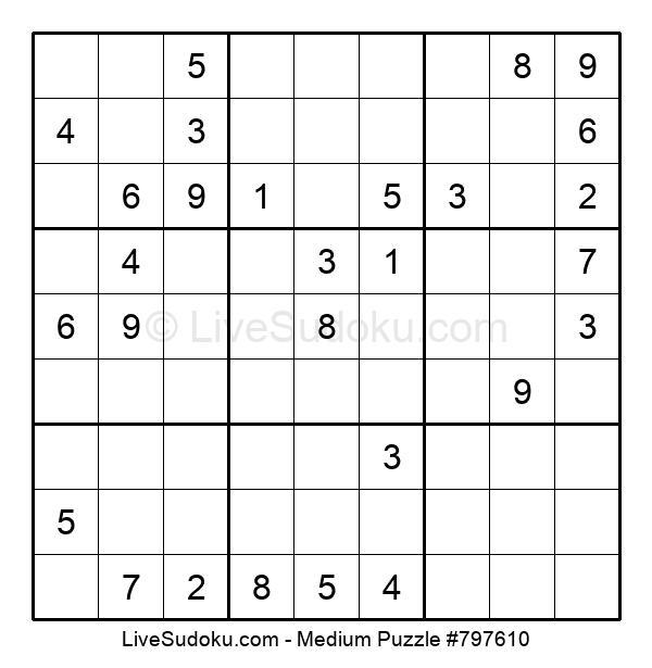 Medium Puzzle #797610