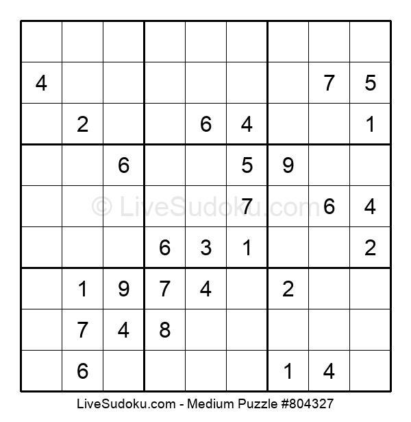 Medium Puzzle #804327