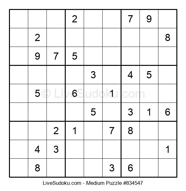 Medium Puzzle #834547