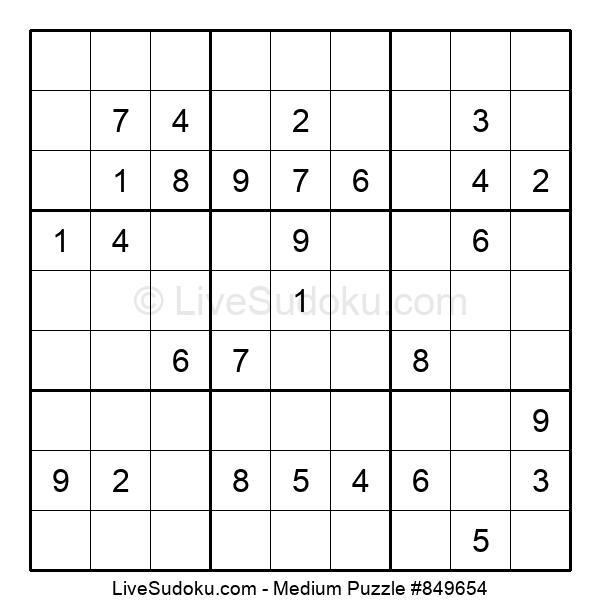 Medium Puzzle #849654