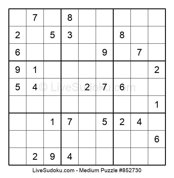 Medium Puzzle #852730