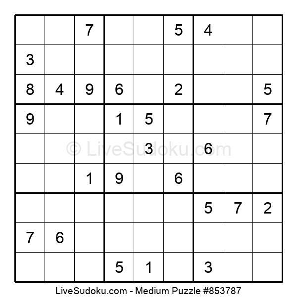 Medium Puzzle #853787