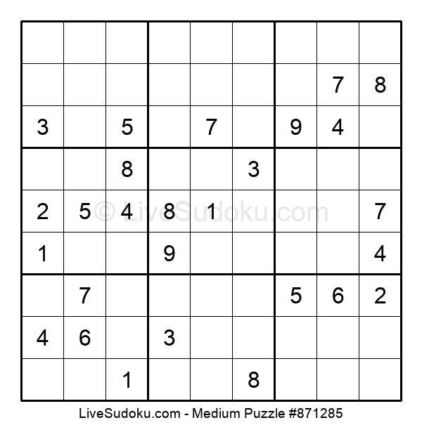 Medium Puzzle #871285