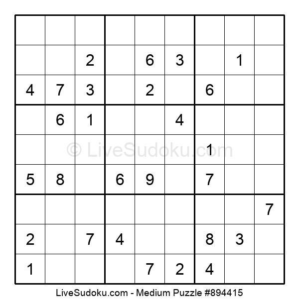 Medium Puzzle #894415