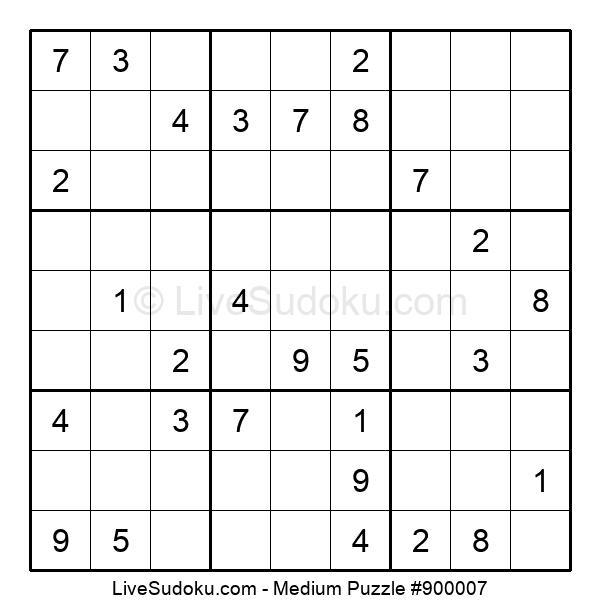 Medium Puzzle #900007