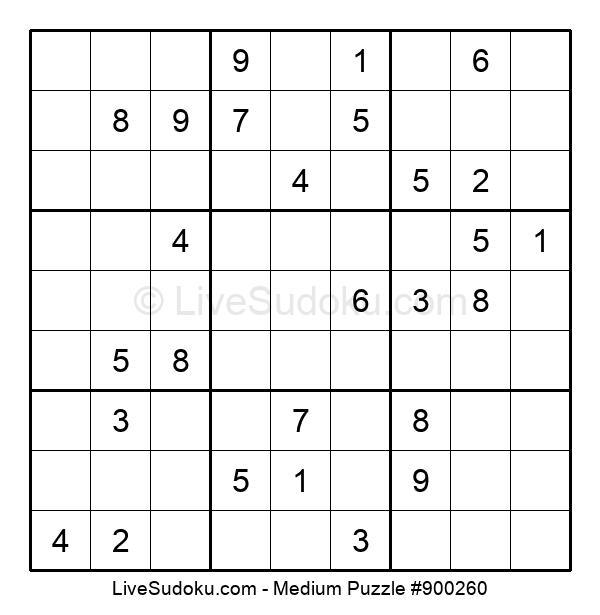 Medium Puzzle #900260