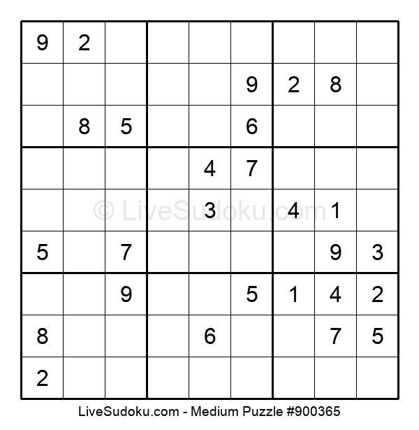 Medium Puzzle #900365