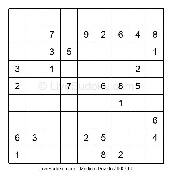 Medium Puzzle #900419