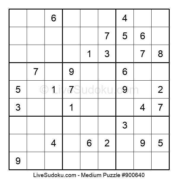 Medium Puzzle #900640