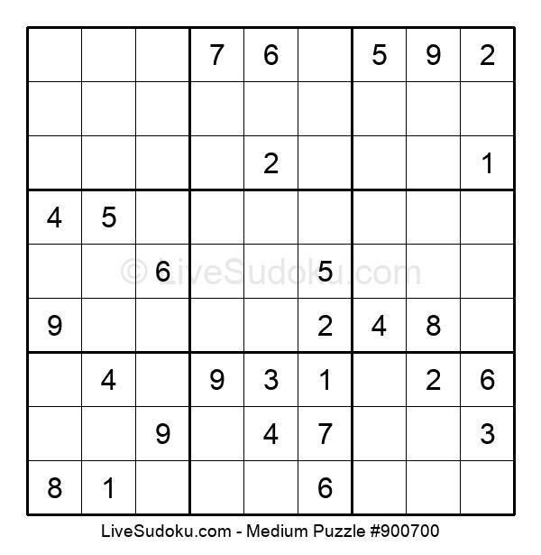 Medium Puzzle #900700