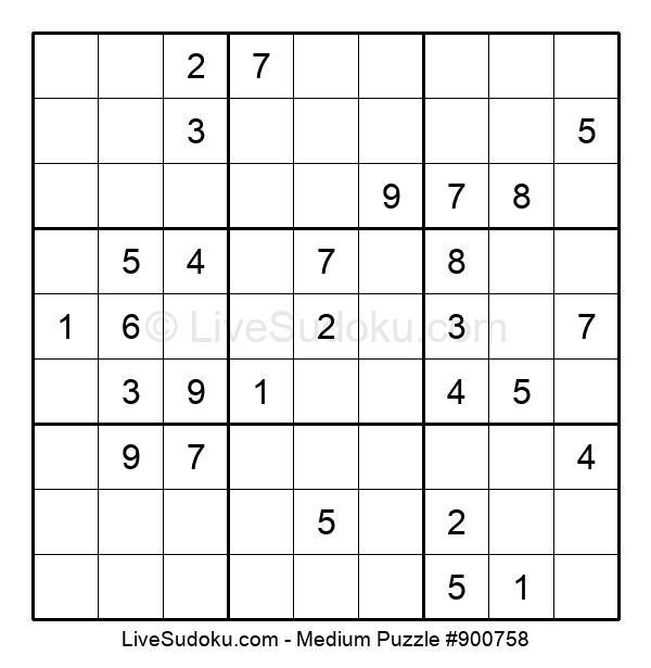 Medium Puzzle #900758