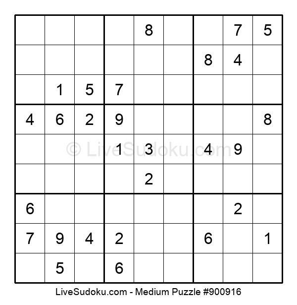 Medium Puzzle #900916