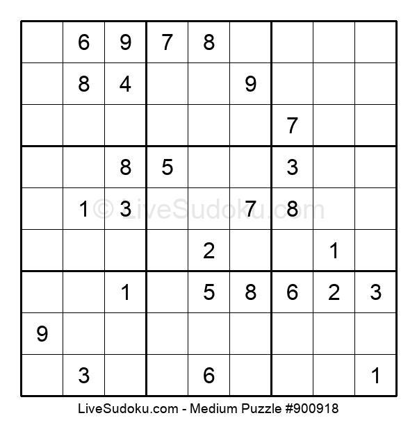 Medium Puzzle #900918