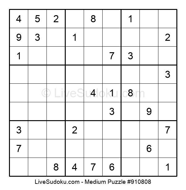 Medium Puzzle #910808
