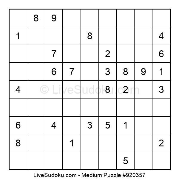 Medium Puzzle #920357
