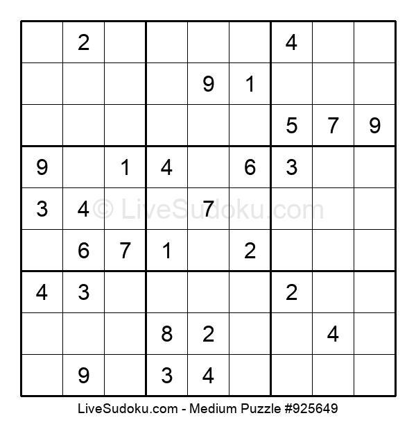 Medium Puzzle #925649