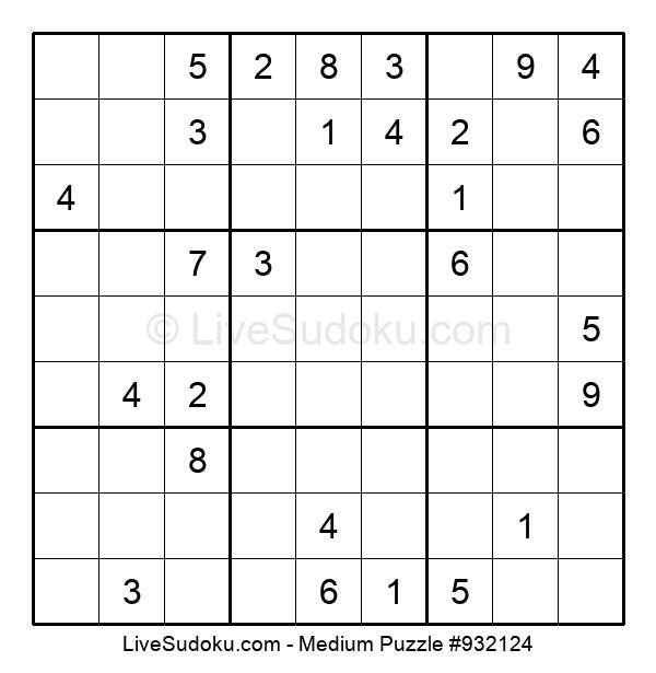 Medium Puzzle #932124