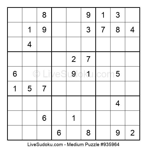Medium Puzzle #935964
