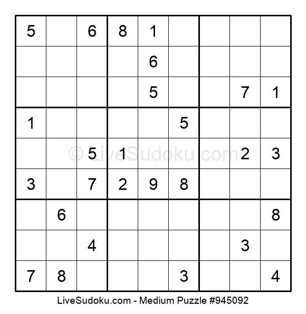 Medium Puzzle #945092