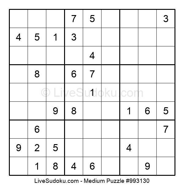 Medium Puzzle #993130